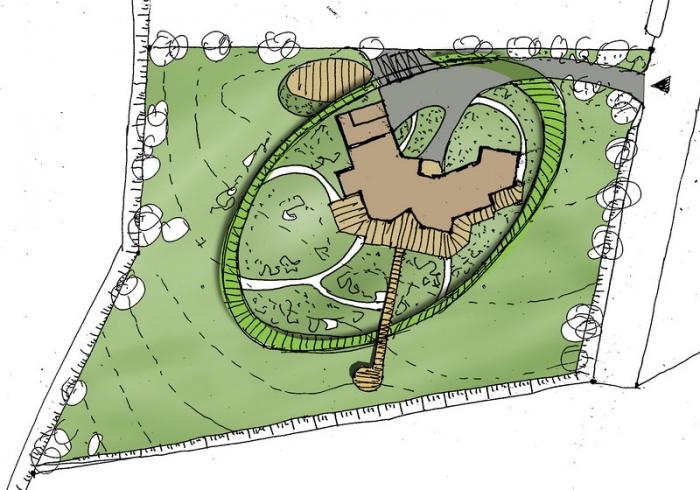 Jardin d'une maison de campagne : Jardin d'Ellipse