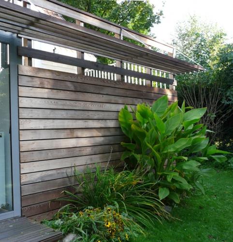 Construction bois et  terrasse : bois détail