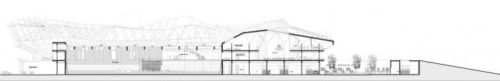 Fouganza Horse Park / Projet lauréat : Coupe du centre équestre