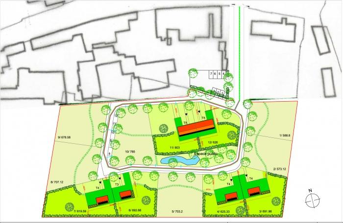 Construction de 6 logements individuels BBC à Dommartin-le-Franc
