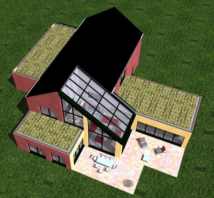 Habitation C : Vue aérienne