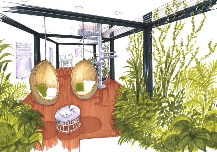 Extension d'une habitat, concours non retenu