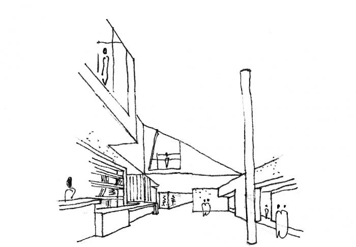Construction d'un office du tourisme : BIT_croquis