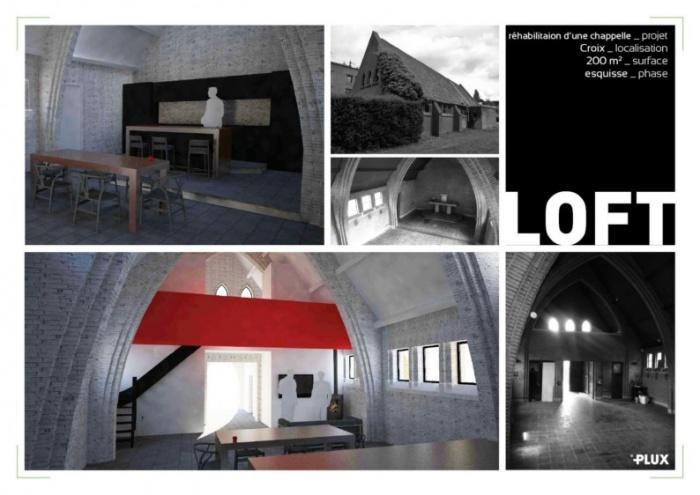 Réhabiliation d'une chapelle à CROIX_Architecte Lille PLUX