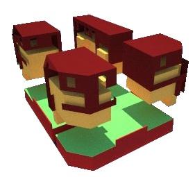 Maisons de ville : concept