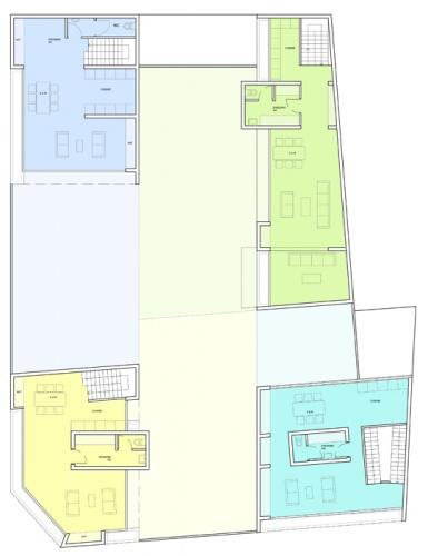 Maisons de ville : plan du 1er étage